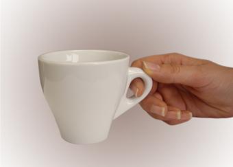 Juego de 6 tazas de caf con leche 6 platos modelo rub - Tazas de cafe de diseno ...